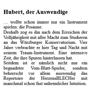 Text Hubert als Grafik